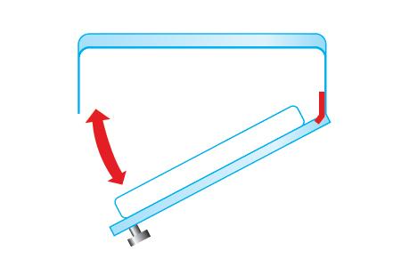 Fixation portes glissières pour réfrigérateur