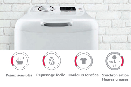 visuel lave-linge et options